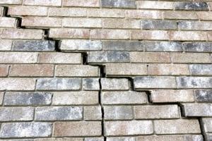 Water Damage on a Brick Wall